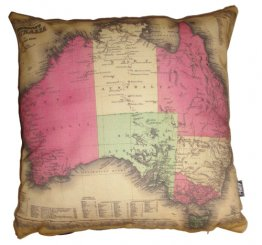 Cushion Johnsons map of Australia