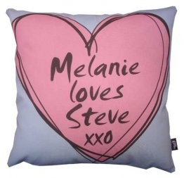 Cushion Drawn Heart Valentines Day