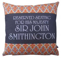 Cushion Personalised Reserved Seating Royal