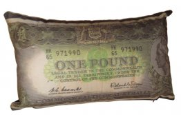Cushion 50x30cm Old Money Pound