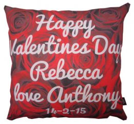 Cushion Roses Valentines Day