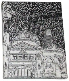 Art Canvas 20x25cm Flinders St Etchings