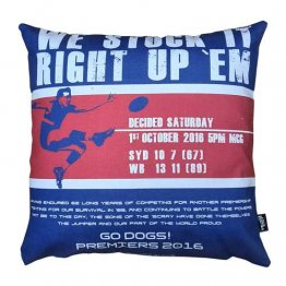Cushion We Stuck It Right Up Them Footscray Bulldogs