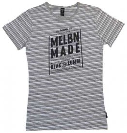 Blak Grouse Stripe T-Shirt Forever Melbn Made