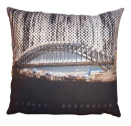 Cushion Harbour Bridge Halftone Rain