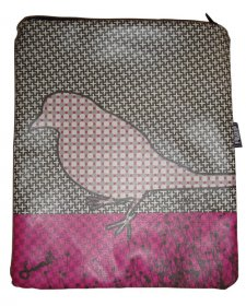 iPad Cover with Zipper NAU Bird Pink