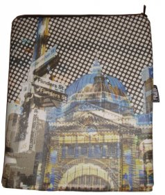 iPad Cover with Zipper Flinders Street Blue