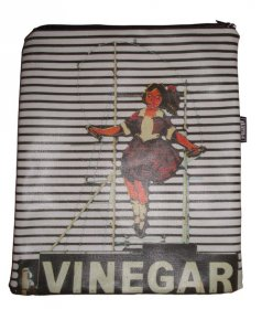 iPad Cover with Zipper Skipping Girl