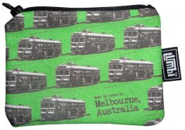 Ipod / Coin Case 13x9cm Green Trams