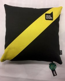Cushion Yellow & Black Jumper Stripe Retro