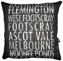 Cushion Destination Scroll Kensington to Essendon Vintage (Various Colours)