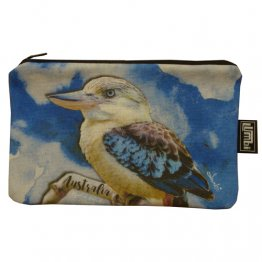 Pencil Case 18x10cm Kookaburra Blue