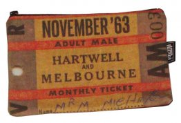 Pencil Case 18x10cm Hartwell to Melbourne Ticket