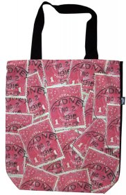 Large Tote 40x30x10cm Pence Stamp Red