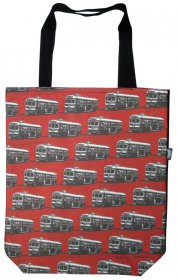 Large Tote 40x30x10cm Trams Red