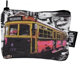 Ipod / Coin Case 13x9cm The Lucky Tram Red