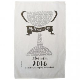 Tea Towel 50x70cm Linen/Cotton Melbourne Cup 2016