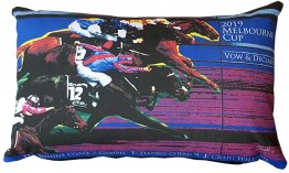 Cushion 50x30cm Melbourne Cup Winner 2019 Blue
