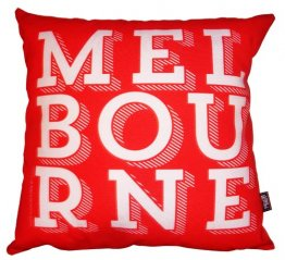 Cushion Melbourne Text FireEngine