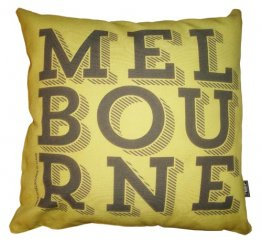 Cushion Melbourne Text Pea