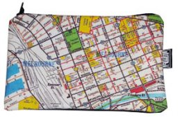 Pencil Case 18x10cm Melway Map 43 Natural