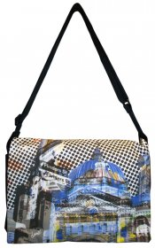 midi Satchel Bag 33x25x7cm Flinders Street Blue