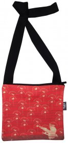 Mino Bag 19x19cm NAU Birds Red