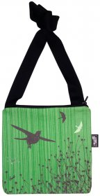 Mino Bag  19x19cm Bird Stripe Green