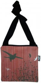 Mino Bag 19x19cm  Bird Stripe Red