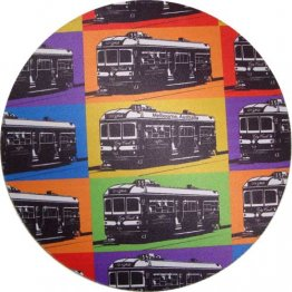 Mouse Pad Trams Pop Art