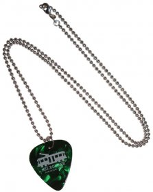 Guitar Pick Necklace Tram Green Pearl