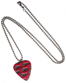Guitar Pick Necklace Trams Red