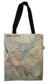 Tote Bag 40x33cm North Sydney 1885 Map