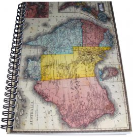 Notebook A5 ANZ Map