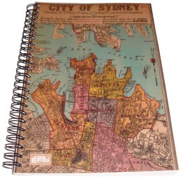 Notebook A5 City of Sydney 1885 Map