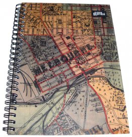 Notebook A5 Whiteheads 1887 Map of Melbourne