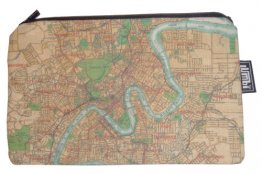Pencil Case 18x10cm Old Brisbane Map