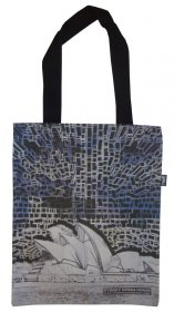 Tote Bag 40x33cm Opera House Wow Blue