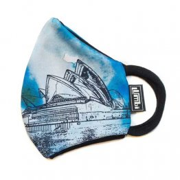 Face Mask Sydney Opera House Water Colour