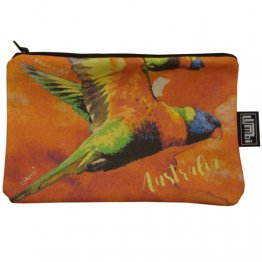 Pencil Case 18x10cm Lorikeet Red