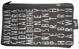 Pencil Case 18x10cm Australian Destination Scroll