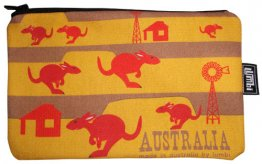 Pencil Case 18x10cm Kangaroo Fun