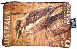Pencil Case 18x10cm Kookaburra Stamp