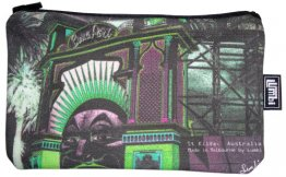 Pencil Case 18x10cm Amusing St.Kilda Luna Park Green