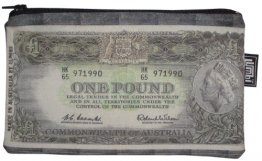 Pencil Case 18x10cm Aussie Pound Note