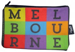Pencil Case 18x10cm Melbourne Pop Art
