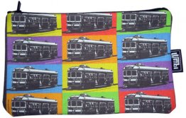 Pencil Case 18x10cm Trams Pop Art