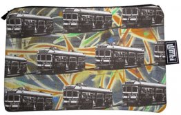 Pencil Case 18x10cm Trams on Graffiti