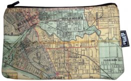 Pencil Case 18x10cm Whiteheads 1887 Map of Melbourne