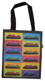 Tote Bag 40x33cm Pop Art Ferries